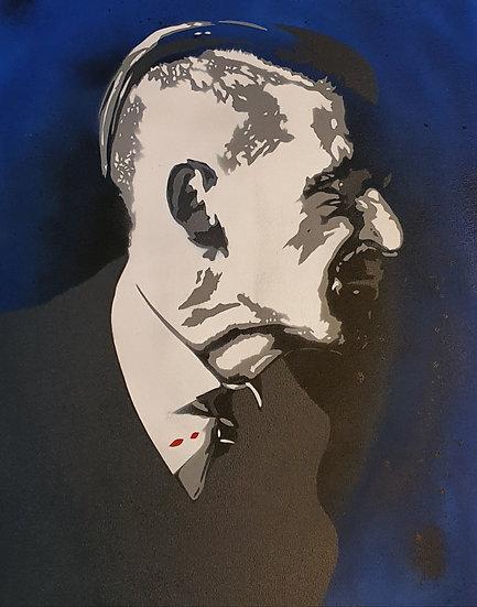 Paul Anderson  50x40cm Spray Paint on canvas portrait.