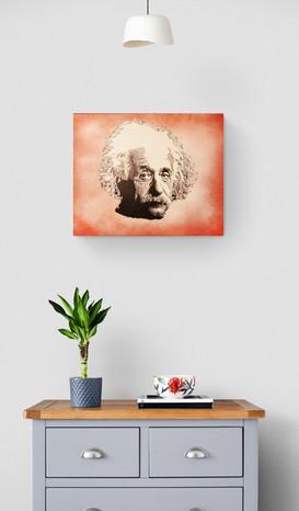 Albert Einstein 50x40cm canvas