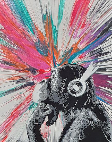 'Disco Chimp - Vibes' 80x60cm Canvas
