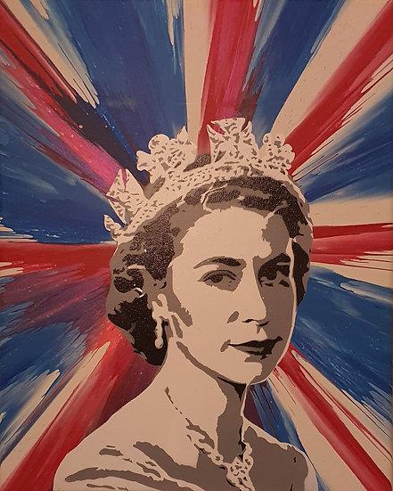 'The majesty of Her Majesty' - 50 x 40cm canvas