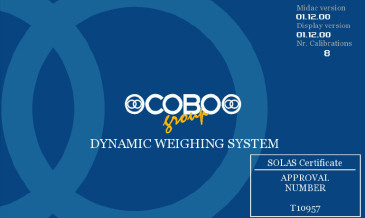Système de pesage Cobo Homologué SOLAS