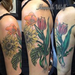 sunflowercaliforniapoppytuliptattoo