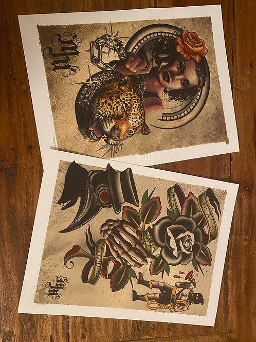 2 Prints by Mick Monahan