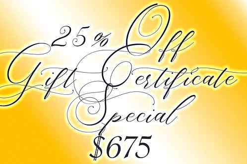 25% off 3 hours of tattooing (normally $900)