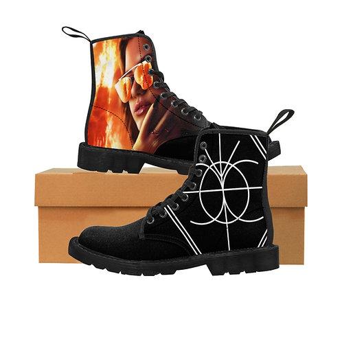 Burning Church Men's Canvas Boots