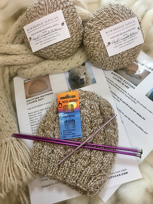 Laurie Hat & Scarf Kit