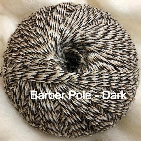 LUXURY ALPACA WOOL - Dark Barber Pole