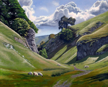 Grazing on The Limestone Way, Peak District, England.