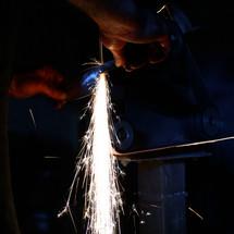 Blacksmith at Work.