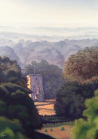 Hazy Morning at Knepp Castle