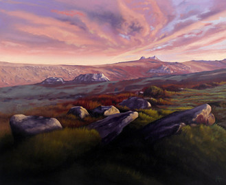 Haytor from Hound tor, Dartmoor. England.