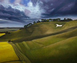 White Horse at Cherhill, Wiltshire. England.