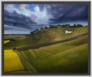 White Horse at Cherhill, Wiltshire, England.