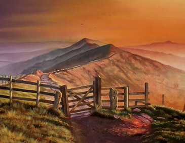 Mam Tor, Peak District. England.