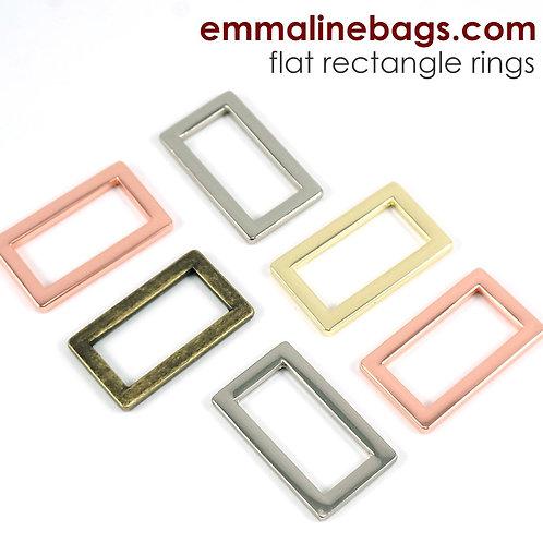 Emmaline - Flat Rectangular Rings - 4 pack