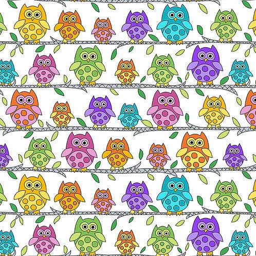 Hoot Hoot - Owl Perch - White