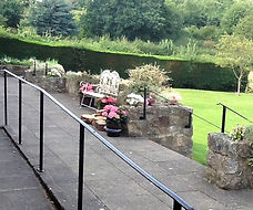 Terrace area leading from the Main hall in East Keswick Village Hall
