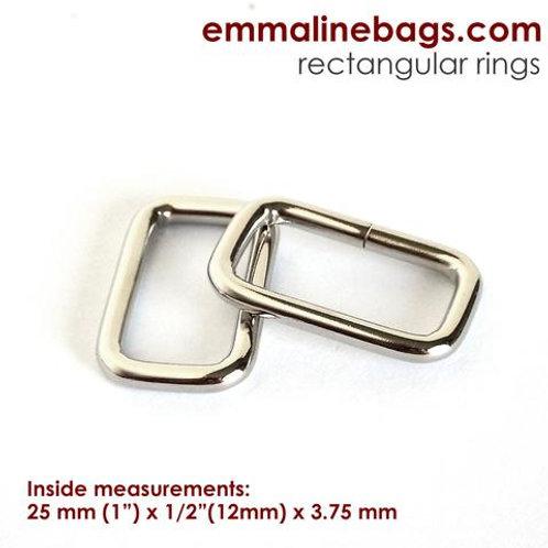 Emmaline - Rectangular Rings - 4 per pack