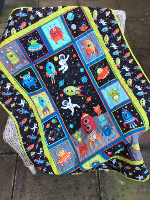 'Outer Space' Childs Quilt/Playmat Kit