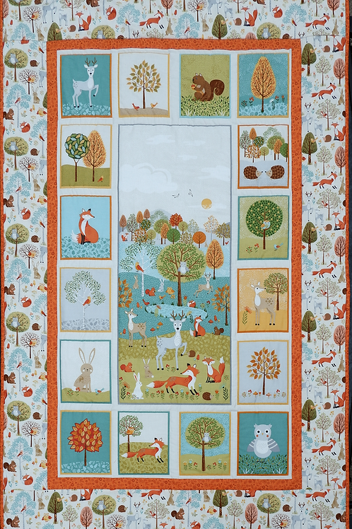 Makower - Forest Friends Child's Cot Quilt or Play Mat Kit