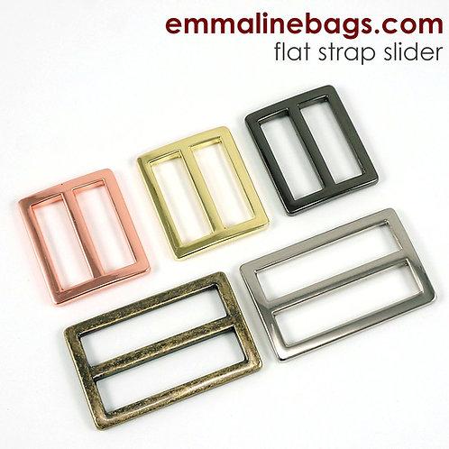 Emmaline - Flat strap sliders - 2 pack