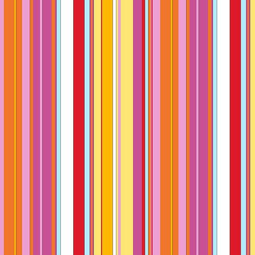 Hoot Hoot - Awning Stripe - Pink