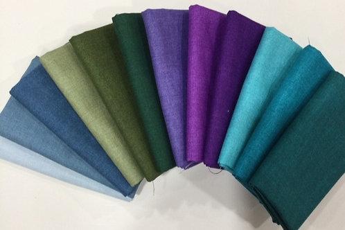 Linen Texture Solids - Cool Colours