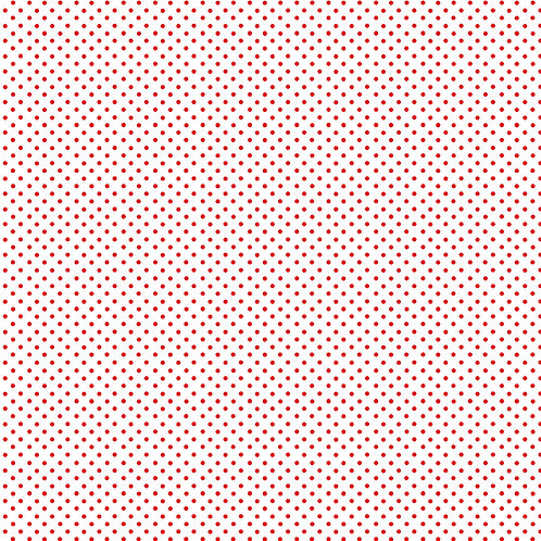 Spots - Red on White