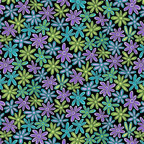 Hoot Hoot - Daisies - Purple/Yellow