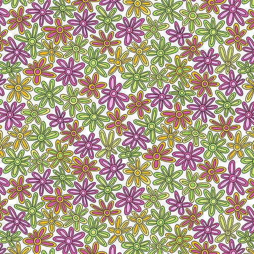 Hoot Hoot -Daisies - Pink/Green