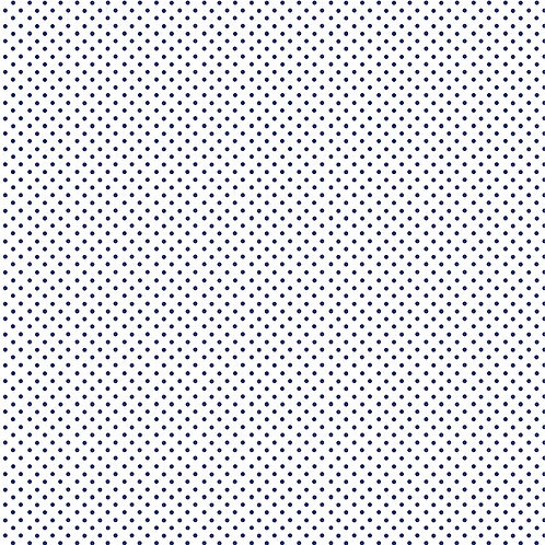 Spots - Navy on White