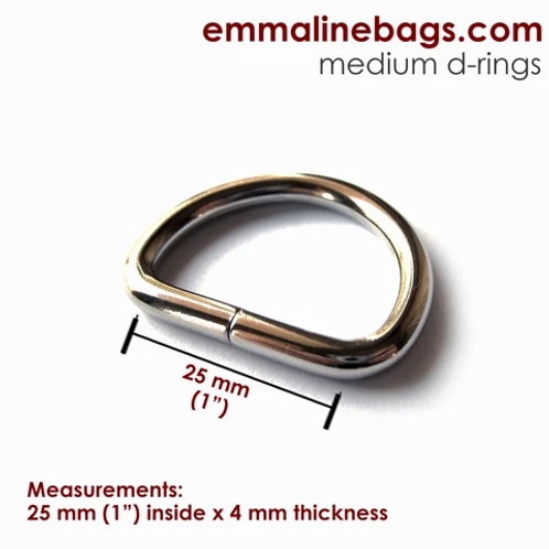 Emmaline - D Rings - 4 per pack
