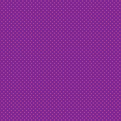 Spots- Pink on Purple