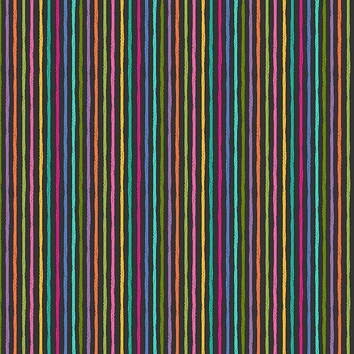 Katies Cats - Chalky Stripe - Black Multi