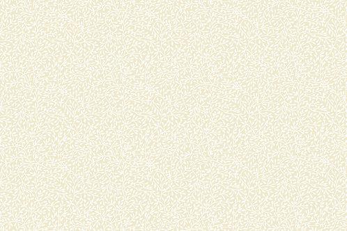 Essentials - Mini Leaf - White on Cream