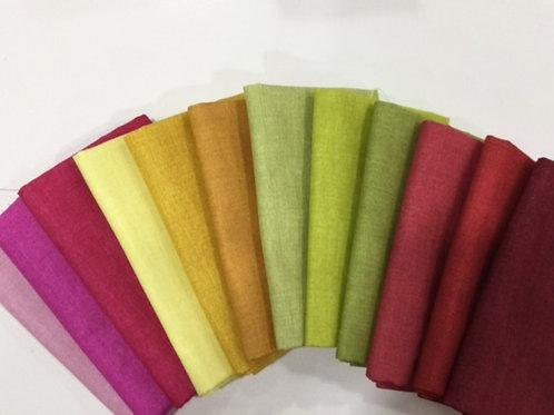 Linen Texture Solids - Warm Shades