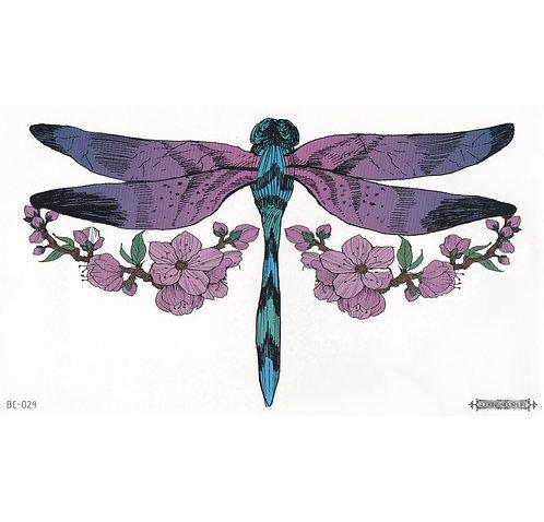 Purple Dragonfly-     Mini Transfer