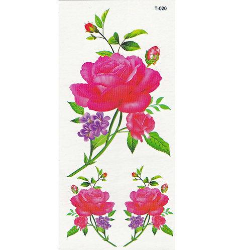 Triple Red Rose-     Mini Transfer
