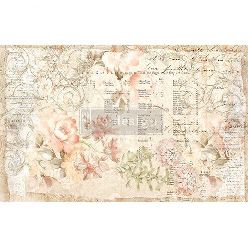 Floral Parchment  - Prima Mulberry Paper