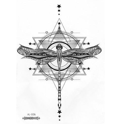 Steampunk Dragonfly-     Mini Transfer