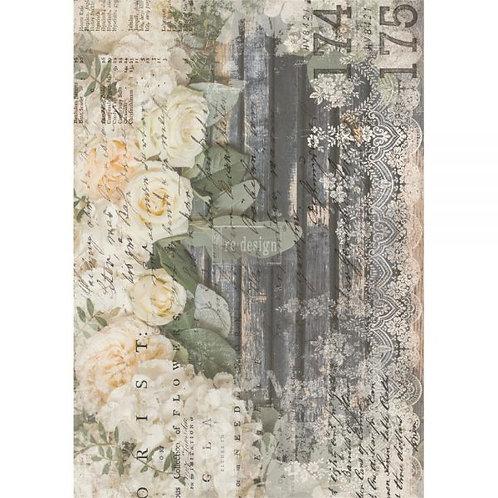 White Fleur    -Prima Transfer
