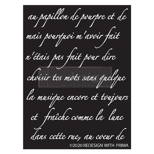 Butterfly Script  - Prima Stencil
