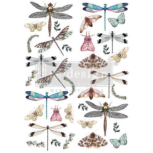 Riverbed Dragonflies - Prima Transfer