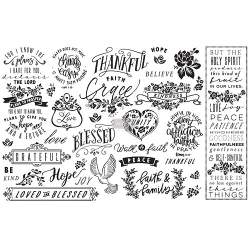 Thankful & Blessed - Prima Mulberry Paper