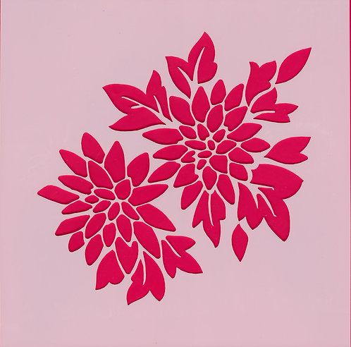 Chrysanthemum -Poppy Stamps Stencil