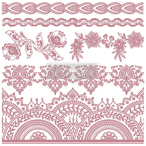 Bohemian Florals - Prima Clear Cling Stamp