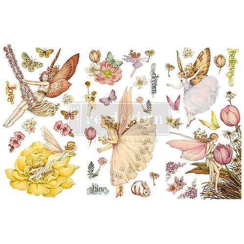 Fairy Flowers-     Prima Mini Transfer