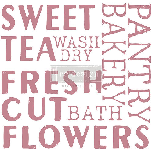 Sweet Tea - Prima Clear Cling Stamp