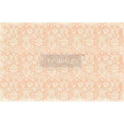 Peach Damask  - Prima Mulberry Paper