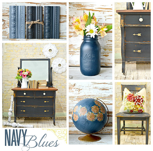 Navy Blues- Milk Paint
